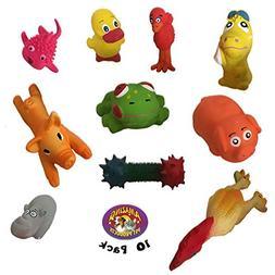 Amazing Pet Products 10 Pack of Pipsqueak Latex Squeak Toys