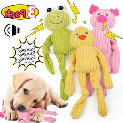 3 Packs For Dog Toy Play Funny Pet Puppy Chew Squeaker Squea