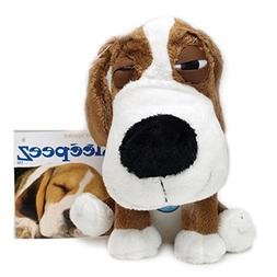 Boss Pet Plush Cuddly Sleepeez Brown Beagle with Squeaker Do