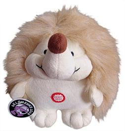 Pet Qwerks Plush Hedgehog Interactive Dog Toy with CUTE CHAT