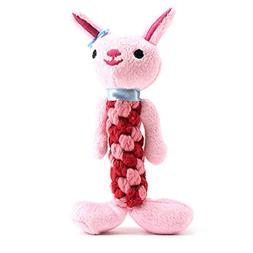 Plush Squeaky Dog Toys, Durable Soft Interactive Dog Chew To