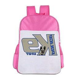Police K9 Unit Dog School Backpack Children Shoulder Daypack