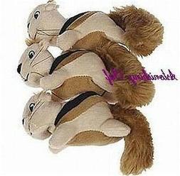 Kyjen PP01045 Squeakin Animals Squirrel - 3 Pack