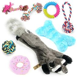 Critter Mamas Puppy Chew Toys and Small Dog Toy Set  -Natura