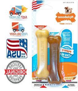 Nylabone Puppy Dog Chew & Dura Variety Toy & Treat Twin Pack