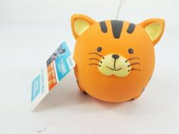 Multipet Puppy Dog Orange Cat Tiger Animal Ball Squeaky Late