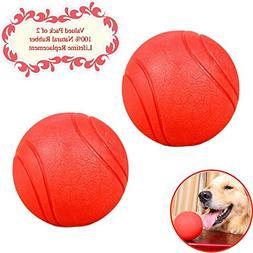 Bojafa Puppy Small Medium Large Dog Toys Balls Solid  Rubber