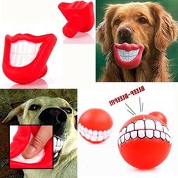 Puppy Dog Toys Big RED Chewing Squeaky Toy Rubber For Pet W