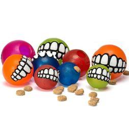 Rogz Pupz Grinz Treat Ball Dog Toy, Color Varies   Free Ship