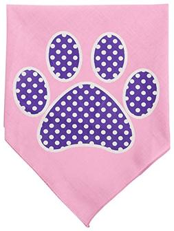 Mirage Pet Products Purple Swiss Dot Paw Screen Print Bandan