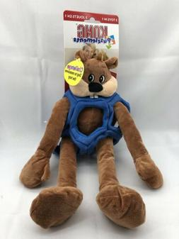 KONG Puzzlements 3 Toys in 1 Beaver Dog Toy, Large FREE SHIP