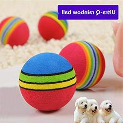 Rainbow Ball Pet Dog Cat Puppy Chew Toys Durable Bite Balls