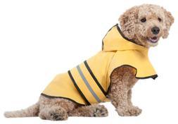 Fashion Pet Rainy Days Slicker Yellow dog Raincoat for large