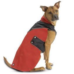 Red & Black Tacoma Waterproof Dog Coat - Medium