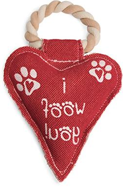 "Pavilion Gift Company Red Heart Shaped ""I Woof You!"" Canvas"