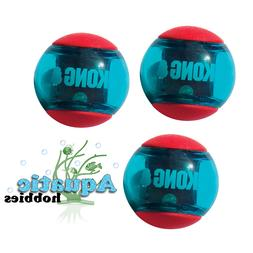 Red Kong Squeezz Action Ball Multi-Textured Fetch Toy Dog Pu