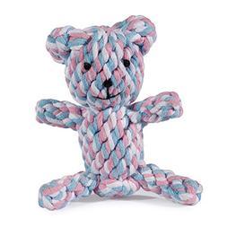 "Zanies Rope Bear Dog Toys, Pink, Large, 5"""