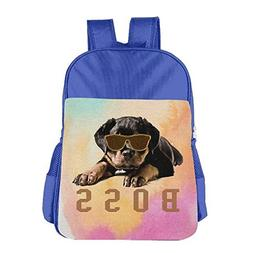 Rottweiler Boss Dog School Girls Boys Teens Backpacks Bags