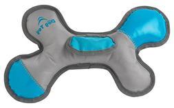 "PetRageous Roughrageous Nylon Bone Dog Toy, 13"", Gray/Aqua"