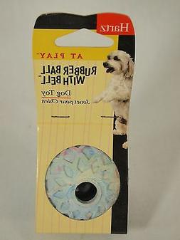 Hartz Rubber Ball With Bell Dog Toy NEW - Choice of 4 Colors