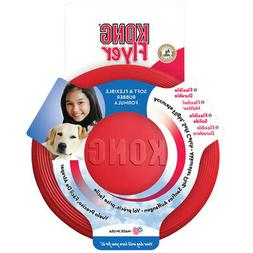 Rubber KONG Frisbee - Flyer Dog Toy - Fetch & Catch Toys - S
