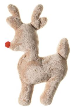 West Paw Design Ruff-N-Tuff Reindeer Squeak Toy for Dogs, Ho