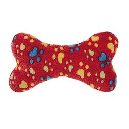 Zanies Ruff 'N' Tumble Bone Dog Toys, Small Red, 7.5""