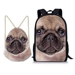 Showudesigns Schoolbag Set With Book Backpack/Drawstring Bag