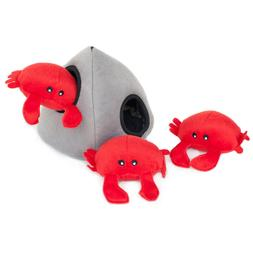 ZippyPaws - Sea Buddies Burrow, Interactive Squeaky Hide and
