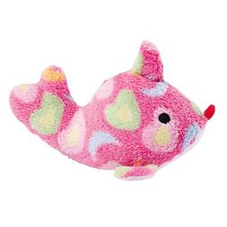 "Zanies Sea Charmer Dog Toys, Pink Fish, 7"""