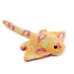 "Zanies Sea Charmer Dog Toys, Orange Stingray, 11"""