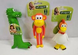 set of 3 squeaking dog toys monkey