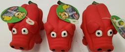 Squeaking Pigs Dog Toys In 3 Colors Made Of Soft And Durabl