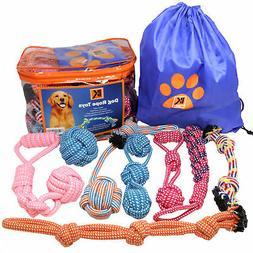 set of 8 heavy duty dog rope