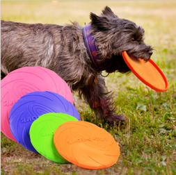 Silicone Pet Dog Frisbee Flying Saucer Disc Toy for Exercise