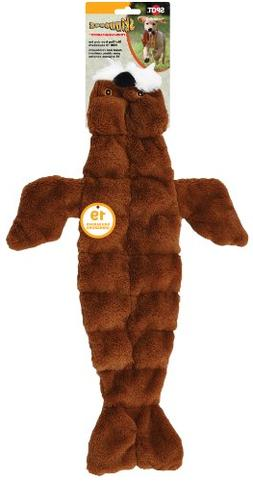 Ethical Pets Skinneeez Tons of Squeakers Walrus Dog Toy, 21-