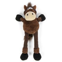 GoDog Skinny Brown Horse Dog Toys: Choose: Mini, Small, Larg