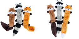 ZippyPaws - Skinny Peltz No Stuffing Squeaky Plush Dog Toy,