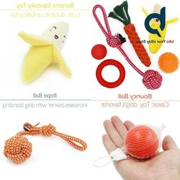 Yotache Small Dog Toys Set 6 Pack Ball Rope And Chew Toys Fo