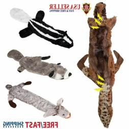 For Small Medium Large Dogs Squeaky Toys No Stuffing Dog Plu