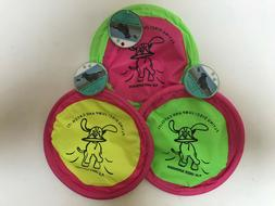Soft Flying Disc for Dogs - Dog Toy - Neon Green and Pink! -
