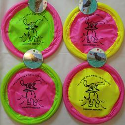 "SOFT FLYING DISC FRISBEE DOG TOY 10"" PLAY FETCH EXERCISE FLO"