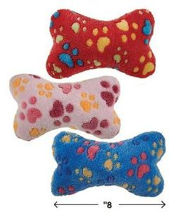 "Soft Plush Bone Shaped Squeak Dog Toys 8"" Ruff N' Tumble Ful"