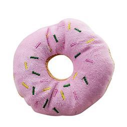 Da.Wa 1Pcs Soft Plush Pet Chewing Toys Doughnut Shaped Quack