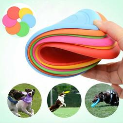 Soft Silicone Dog Toys Frisbee Flying Disc Outdoor Training