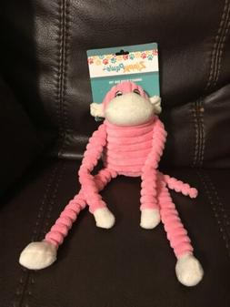 ZippyPaws Spencer The Crinkle Monkey, Small, Pink