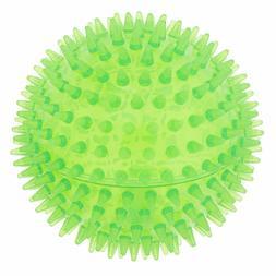 Top Paw® Spike Ball Spiky Ball Dog Toy - Squeaker - MEDIUM