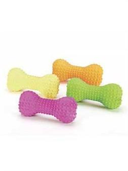 """Spot 03070 6"""" Stuffed Latex Bone Dog Toy Assorted Colors"""