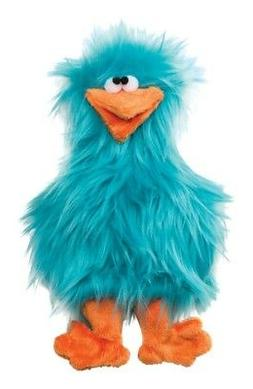 West Paw Design Spring Chicken Squeak Toy for Dogs, Turquois