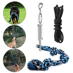 Spring Pole Dog Rope Toys with a Big Spring Pole Kit Strong